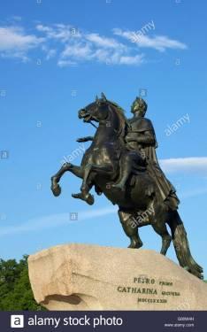 statue-of-peter-the-great-bronze-horseman-st-petersburg-russia-G80W4H